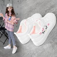 女童小白鞋儿童板鞋单鞋小学生百搭童鞋女孩春秋鞋子
