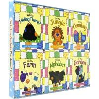 【首页抢券300-100】Mini Lift-the-flap Books The Animal Patch 趣味动物纸