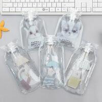 新款可爱卡通透明热水袋 可充水免充电暖手宝注水灌水暖水袋