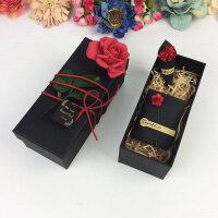 礼品盒心形浪漫大号情人节牛皮纸盒生日礼盒创意小号爱心形 +礼袋