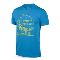 KELME卡尔美 K16C726 男式印花圆领短袖棉T恤 运动健身T恤 户外休闲T恤