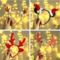 圣诞节礼物小礼品装扮装饰发饰头饰发箍成人儿童鹿角头扣头箍饰品