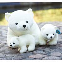 送朋友北极熊公仔 北极熊毛绒玩具公仔小白熊玩偶抱枕