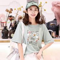 短袖纯棉T恤上衣女2018夏季新款韩版T恤衫短袖上衣打底衫