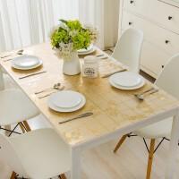 铭聚布艺餐桌布软质玻璃 PVC防水防油茶几桌布桌垫免洗餐厅水晶板 蝴蝶兰金