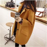 韩观2017秋冬羊绒大衣毛呢外套女装中长款呢子学生宽松加厚外套风衣潮