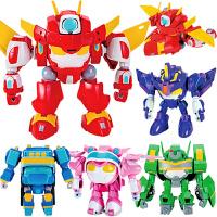 开心超人玩具机器人甜心花心小心粗心开心合体套装机车侠变形