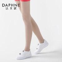 Daphne/达芙妮春季女鞋厚平底亮片休闲单鞋透气运动鞋