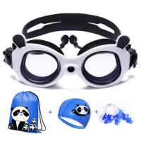 儿童泳镜男童专业防水防雾游泳眼镜女童高清透明大框游泳镜套装备
