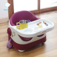 儿童便携式折叠餐椅 宝宝座椅 婴儿吃饭椅子 婴儿PU软垫餐桌椅凳