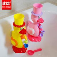大黄鸭子转转乐儿童戏水花洒沙滩玩具男女孩宝宝洗澡玩具套装