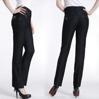春装新款高腰大码中年直筒裤中老年女装妈妈女裤子休闲正装西裤