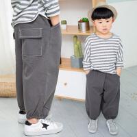 男童裤子春装运动裤中小童春秋男孩长裤儿童休闲裤童