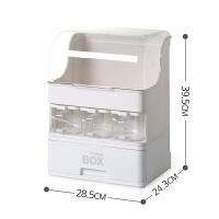 厨房多功能调味盒收纳盒置物架调料瓶调味罐酱油醋组合套装大容量 白色