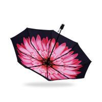 小黑太阳伞防晒防紫外线女黑胶遮阳伞双层蕉下晴雨两用 98cm