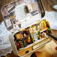 儿童玩具模型创意生日礼物女生盒子剧场diy小屋手工制作拼装房子别墅