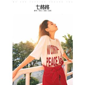 【会员节!每满100减50】字母白T恤女短袖夏装2018新款学生宽松ulzzang百搭韩系chic上衣夏