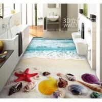 创新3D地毯客厅沙发茶几地毯卧室床边毯儿童地毯厨房浴室地垫门垫 乳白色 唯美浪花