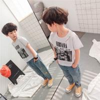 男童t恤短袖夏季儿童上衣纯棉2018新款夏装韩版潮宝宝时尚薄宽松