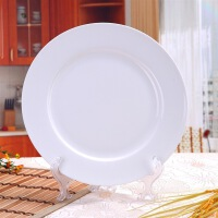 [当当自营]SKYTOP斯凯绨 陶瓷高档骨瓷餐具 纯白10英寸平盘