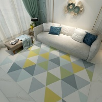 北欧简约现代家用客厅地毯卧室满铺房间榻榻米沙发茶几垫可爱几何j
