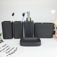 欧式卫生间牙膏架卫浴五件套漱口杯洗漱套装浴室用品卫生间牙刷杯牙刷架套装