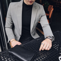 秋冬新款2017小西装商务休闲男士西服外套修身薄便西青年上衣