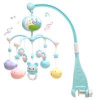 婴儿玩具床铃新生儿音乐宝宝旋转床头风铃挂件玩具床挂0-3-6-12月