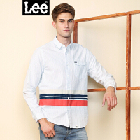 Lee男装 2018春夏新品商场同款撞色翻盖口袋长袖衬衫L295822EEK14