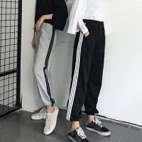 新款运动休闲三条杠长裤嘻哈街舞裤子学生跳舞宽松爵士舞练功服女
