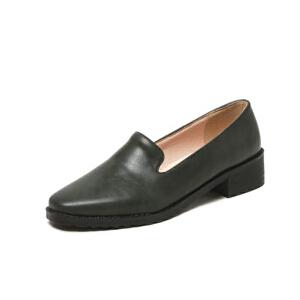 O'SHELL法国欧希尔新品020-a36-8通勤超纤皮低跟女士单鞋