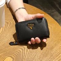 卡包女式韩版多卡位牛皮大容量真皮卡夹拉链卡包*套薄卡片包