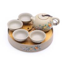 黑陶功夫茶具茶杯陶瓷干泡茶盘便携旅行日式简约迷你小茶台套装