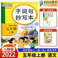 生字抄写本五年级上册 2021秋人教部编版司马彦字帖语文字词句