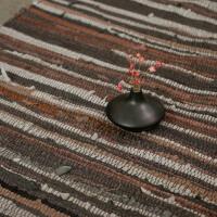 卧室地毯床边毯客厅茶几地垫可机洗极有家棉布条编织榻榻米脚垫子