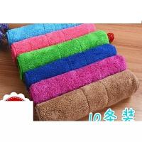 双层加厚珊瑚绒抹布超吸水毛打扫卫生搞家政清洁用的擦手毛巾定制