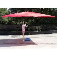大型户外遮阳伞打伞超大号摆摊户外生意用圆形折叠防风四方伞 水座