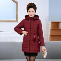 中年女装妈妈冬装棉衣外套中长款中老年人加厚保暖羽绒40岁50
