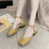 户外时尚百搭凉鞋韩版休闲舒适女鞋气质仙女风中跟鞋