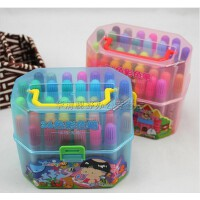 西瓜太郎 36色桶装水彩笔 筒装水彩笔 环保 水性 幼儿园推荐