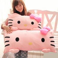 Hello 抱枕毛绒玩具KT猫单人枕头双人枕创意礼物 如图kitty猫枕头