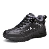 男鞋冬季棉鞋男士休闲鞋加绒保暖鞋子男板鞋韩版运动鞋潮OK-092 黑/银 44
