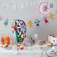婴儿房旗帜装饰品 儿童聚会派对彩旗 DIY家居点缀