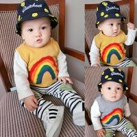婴儿秋装女童马甲毛衣1-3岁6男宝宝背心针织衫春秋新生儿加厚外套