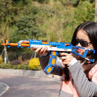 双鹰咔搭积木拼装男 儿童玩具军事益智塑料拼插组装枪模型