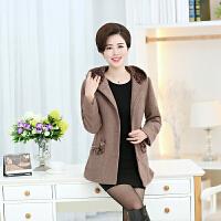 中老年女装冬装羊毛呢外套新款棉衣50-60岁妈妈装呢大衣大码上衣