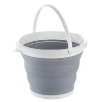 便捷式户外可折叠水桶钓鱼收纳桶汽车用车载伸缩洗车桶大号10升 如图 均码
