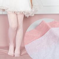 夏季薄款儿童连裤袜春秋公主舞蹈袜宝宝白色丝袜子