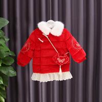 女童冬装外套儿童棉衣中国风棉袄新年装宝宝拜年