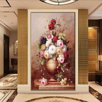 欧式5d钻石画竖版花瓶满钻客厅玄关钻石十字绣花卉贴钻画新款走廊
